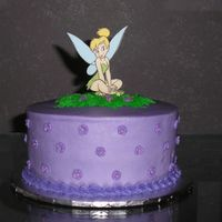 Tinkerbell WASC with buttercream icing. This was my sister's birthday cake. My niece requested this cake for her mom.