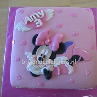 Minni Mouse In Pink mini mouse is cut and shaped by hand, little heart shapes are made with plunger cutters