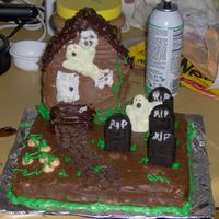 Halloween Cake 2006 My first decorated cake. Not very good, but it was fun.