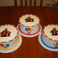 Circus Cake Circus themed cakes for our church's Family Fest cake walk booth. Tent is chocolate transfer.
