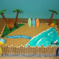 Hawaiian Beach Birthday  Hawaiian beach birthday for a good friend's son. I was so happy with how it turned out! Palm trees are pretzle rods and fondant and...