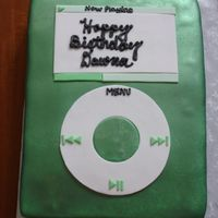 Green Ipod Birthday Cake Yet another iPod cake. Borrowed some design elements from Hansel_Gretel (hers looks better though!)