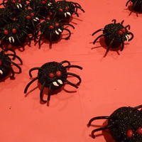 Creepy Crawly Spiders Here are spider cupcakes I made for Halloween.
