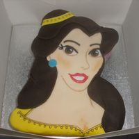 Belle From Beauty And The Beast This was a birthday cake for a friend of a friend. She wasnted Belle from beauty and the beast. This was vanilla sponge with chocolate...