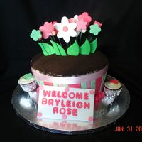Flower Pot Baby Shower Cake