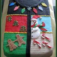Ugly Sweater Cake  For my daughter's Christmas-time birthday. We'd been teasing her about buying her an ugly Christmas sweater for her birthday. So...