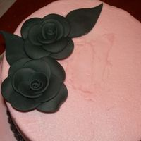 My First Fondant Roses!  ...and my first stacked cake. I won't show the whole picture, because I'm slightly embarrassed. But I'm really pleased with...