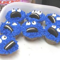 Cookie Monster Cupcakes Cupcakes, cookie monster, buttercream