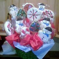 Cookie Bouquet sugar cookie with glace incing.