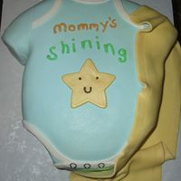 Mommy's Shining Star  Just a simple onsie for my friend who's having a little boy. Her husband sent a picture of a onsie she bought as an idea. I thought it...