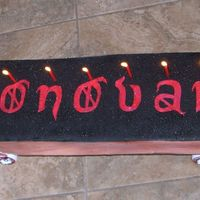 Donovan's Skateboard  This was for my nephew, it was cake on an actual full size skatebaord that I lit candles on and wheeled it out in front of. He loved it!...