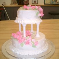Wedding Cake   This is the first 2-tier cake I have made.