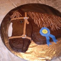 Horse_Cake_And_Mackenzie_13Th_.jpg This cake was for my niece who love horses and turned 13. She loved it. First time- carved from a picture . chocolate cake with chocolate...