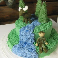 Moose & River Birthday Cake