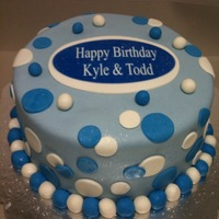 Blue It Is Then... I was asked to make something for a father & son dual birthday cake in blue...