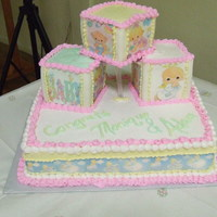 Precious Moments Baby Shower Butter-cream, Fondant, and edible images used on this one.
