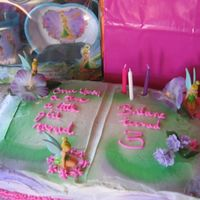 Bri's 3Rd Birthday: Faries, Tink Once Upon a time Cake with Tink, per my granddaughter request.....a Tink cake