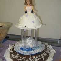 Bridal Shower Cake, The Brides And Guests Tiers came in to long, but we used them....first time bridal cake
