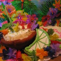 Puttin The Lime In The Coconut And Shaken All Up One cake is key lime with key lime frosting and the other is coconut.