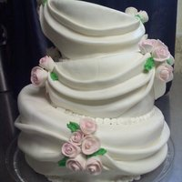 Topsy Turvy Wedding Cake I made this for practice cause I haven't made a cake in over a year.