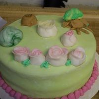 Spring My 11 year old did ths cake today while I did my practice cakes. My 8 year old did one too.