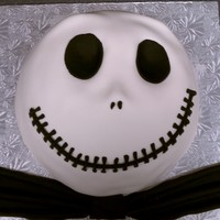 Jack Skellington WASC made in stainless bowl and covered in fondant.