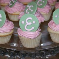 Mini Cupcakes Mini cupcakes for a monogram baby shower