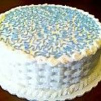 Just For Practice  I did this cake yesterday during the ridiculous marathon of football games on television. This was my first time trying the basketweave and...