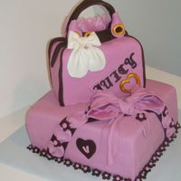 16Th Birthday all fondant cake and purse for my niece