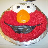 Elmo Face This was the first cake I decorated. I did this for my daughter's 2nd birthday.