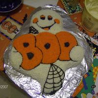 Boo Ghost This was from the Wilton cake pan Boo Ghost.