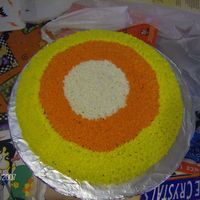 Candy Corn Cake This is the Candy Corn Cake shown in the Wilton Yearbook.