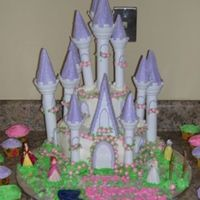 Purple Romantic Castle Cake My first stab at the castle cake... I tried to assemble it prior to delivering it.. BIG MISTAKE!!