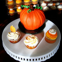 Pumpkin Cake Small pumpkin 'smash cake'....Pumpkin spice cupcakes w/ cream cheese buttercream....French Vanilla 'candy corn' with...