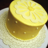 Sunny Yellow... My first cut with my Cricut.....lemon cake with lemon buttercream...