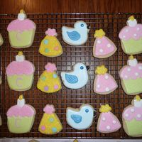 First Birthday I made these cookies using the NF sugar cookie recipe and the Antonia 74 royal icing recipe. They are made for my granddaughter's...