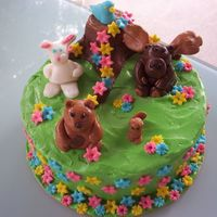 Woodland Critters We had so much fun making this cake! The cake is spice cake with blackberry filling and cream cheese frosting (absolutely yum!) and the &#...