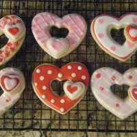 3D Heart Cookies NFSC with Cookie Crazie's icing.