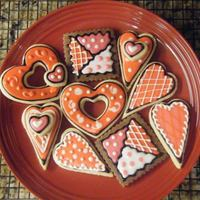 More Valentine's Cookies NFSC and Chocolate Cut Outs, with Cookie Crazie's Icing. Inspired by Cookie Crazie's wonderful creations.