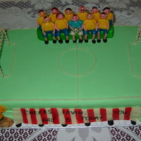 Soccer Mania In keeping with the FIFA fever a cake to celebrate my son's 6th birthday with the sport he loves.