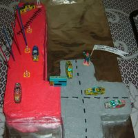 4Th Birthday Race Track Cake