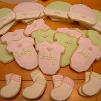 Baby Shower Onesie Cookies