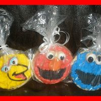 Monster Cookies Cookies for a Sesame street theem birthday party