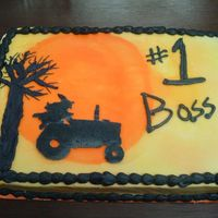 Boss's Day Yes, that's right. A witch on a tractor. My boss's favorite holiday is Halloween and she loves witches. She also belongs to a...