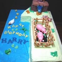 First Birthday - Old Mcdonald Had A Farm To celebrate a baby's first birthday. Customer requested for a cake shaped as no. 1. I had a bit of fun and made the cake into Old...