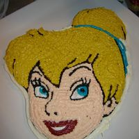 Tinkerbell Cake I just used the Wilton Tinkerbell pan, white cake, and bought the Fairies colors to get her colors right... This is my first attempt at...