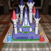 Disney Princess Cake....   Aside from the writing on the front, I was pretty happy with this cake...