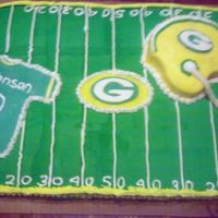 Green Bay Packers   I did this cake for a 10 yrs old who loves the Green Bay Packers.
