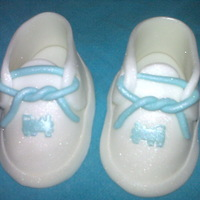 Baptism Shoes Fondant shoes