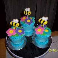 Flower Pots These were made using the king size cupcake pan and sugar cookies.